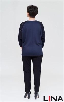 Агата синий блуза - фото 7068