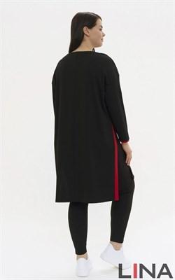 4288 черный, красный туника - фото 7072