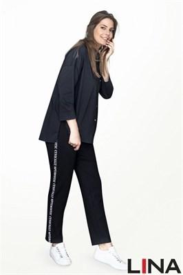 41130 черный блуза - фото 7076