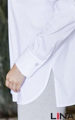 41149 белый блуза - фото 7106
