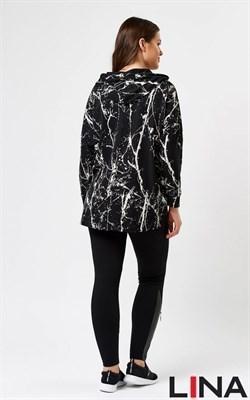 41123 черный, принт 1 блуза - фото 7153