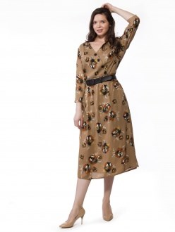 7756 бежевый ANNAVERO платье - фото 7208