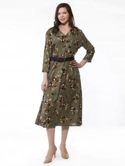 7756 зеленый ANNAVERO платье - фото 7211