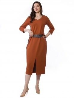 7785 терракотовый ANNAVERO платье - фото 7214