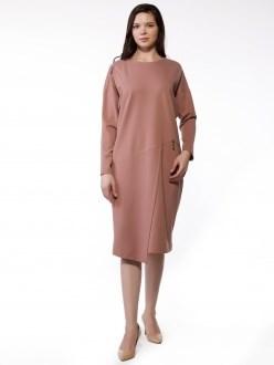 7809 пудровый ANNAVERO платье - фото 7217