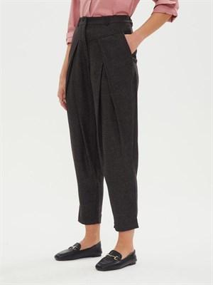 брюки женские BR007 UU серо-черн skandik - фото 8632