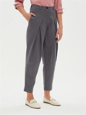 брюки женские BR007 UUZZ41114 серый - фото 8636