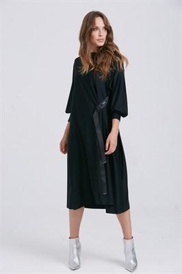 платье женское P006 spandex черн. - фото 8675