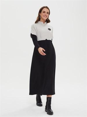 платье женское P010 frosty черн.-сер. - фото 8680