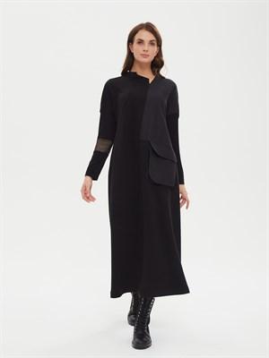 платье женское P017 LI-51350 черн - фото 8686