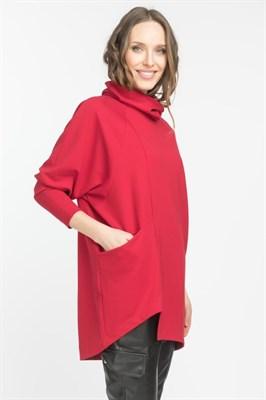 Туника женская Т011 Scarlet красный - фото 8704