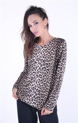 4514 Джемпер леопардовый принт - фото 8757