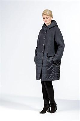 Пальто 443/Т СК2821 (сине-серый) - фото 8770