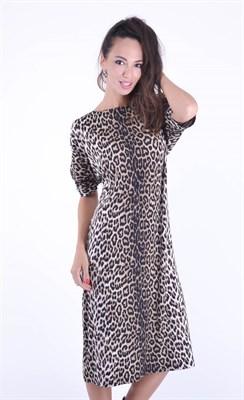 5385 Платье леопард - фото 9030