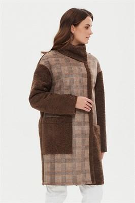 пальто женское 510/t barbara беж.-кор - фото 9235