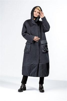 пальто женское 442/T CK2821 сине-серый - фото 9367