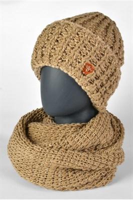 MV 1302-1 Комплект женский (шапка и снуд) Пелагея бежевый ONE SIZE - фото 9511