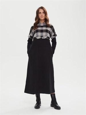 Платье Р 010 BETTI (чёрное серебро) - фото 9533