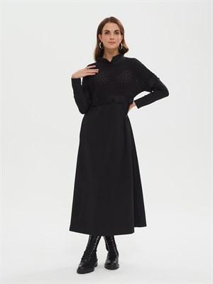 Платье Р010 TRINA (чёрный) - фото 9544