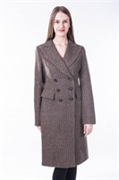 61752/36/коричн пальто