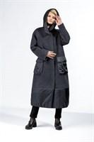 пальто женское 442/T CK2821 сине-серый